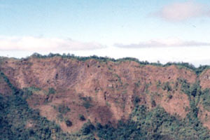 08-01-96 - Volcanic crater close to the city
